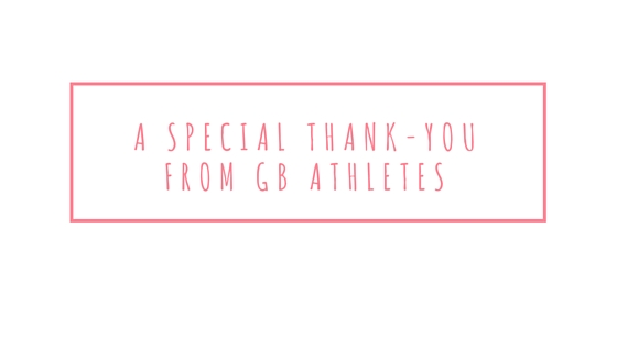 A special thank-you from GB athletes